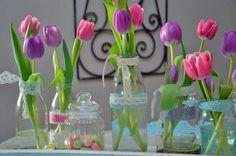Deko-Objekte - Sommer Pur Blumenarrangement Vase - ein Designerstück von majalino bei DaWanda