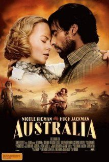 'Australia' (2008) epic historical romance film starring Nicole Kidman & Hugh Jackman.Second-highest grossing Australian film of all time, behind Crocodile Dundee.Set in northern Australia before World War II,an English aristocrat who inherits a sprawling ranch reluctantly pacts with a stock-man in order to protect her new property from a takeover plot.As the pair drive 2,000 head of cattle over unforgiving landscape,they experience the bombing of Darwin, Australia, by Japanese forces firsthand.