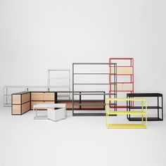haus® - New Order Shelving System - Panels - by HAY