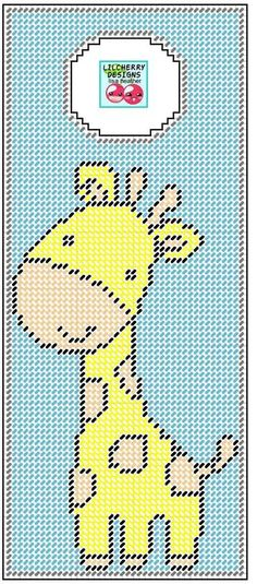 GIRAFFE DOOR HANGER by LISA HEATHER*LIL CHERRY DESIGNS