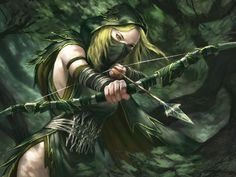f Ranger Fantasy makes way for different races and classes such as elves and dwarves and rangers and knights. Even though fantasy can apply to anything it still creates stereotypes Elfa, Warrior Girl, Fantasy Warrior, Elf Warrior, Fantasy Battle, Fantasy Women, Dark Fantasy, Fantasy Forest, Fantasy Images