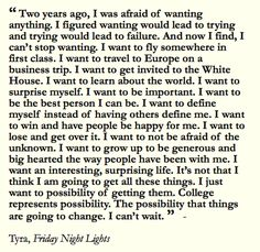 friday night lights tyras college essay quote