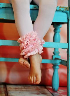 Pink Ruffle  Footless Tights by ISADORAKIDS on Etsy, $19.99