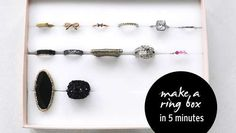 Boîte de rangement bijoux Jewelry Organization, Organization Hacks, Organizing Tips, Diy Rangement, Diy Rings, Phone Holder, Diy And Crafts, Easy Diy, Hair Accessories