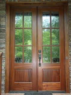Simpson Fir 7504 4 Lite Over 1 Panel Doors Exterior