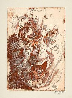 Horst Janssen, Ink Illustrations, Etchings, Watercolor Portraits, Rembrandt, Dieselpunk, Sketchers, Cool Drawings, Printmaking