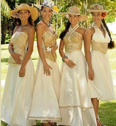 I really want a dress like this <3 btw, these ladies were contestants for Miss Tahiti 2010. But I gotta admit, their outfits are just on point!!!