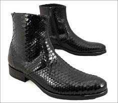 Мужская обувь из кожи змеи