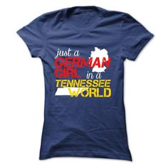 German girl in TENNESSEE T Shirts, Hoodie. Shopping Online Now ==► https://www.sunfrog.com/LifeStyle/German-girl-in-TENNESSEE-NavyBlue-Ladies.html?41382