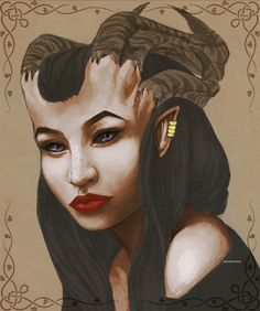 A beautiful Qunari Woman ...
