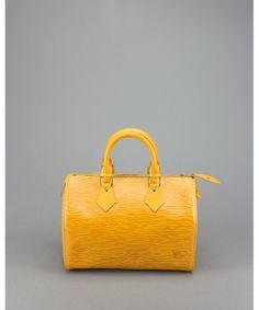 Louis Vuitton Pre-Owned: citron yellow epi leather 'Speedy 25' bag