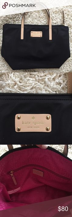 NWOT black Kate Spade purse In PERFECT condition. Got as a gift and never used it kate spade Bags Shoulder Bags