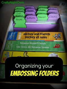 How to Organize your Embossing Folders!! craftynightowls.blogspot.com