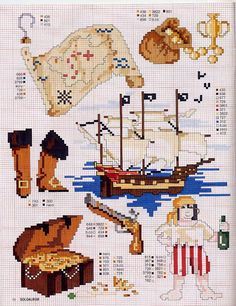 BEBES punto cruz – sonia – Webová alba Picasa Cross Stitch Sea, Cross Stitch For Kids, Cross Stitch Needles, Cross Stitch Samplers, Cross Stitch Charts, Cross Stitching, Cross Stitch Embroidery, Cross Stitch Patterns, Bateau Pirate