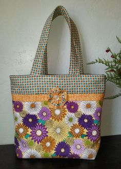 Floral/geometric tote by NonniZu on Etsy, $20.00