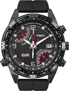 40c65dbc2 Timex 'Intelligent Quartz' Flyback Chronograph Compass Watch The original  Ray Ban aviator in Black