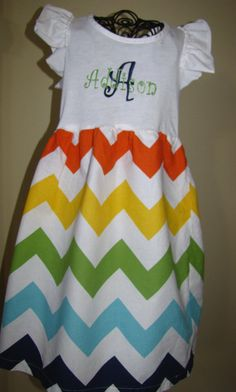 Chevron Print TShirt dress by AddiandBrooks on Etsy, $28.00