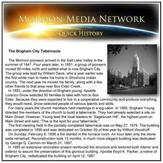 MormonMediaNetwork.com -  The Brigham City Tabernacle