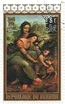 『聖アンナと聖母子』 ダヴィンチ ルネサンス ブルンジ
