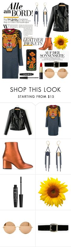 """""""What do I wear?"""" by bich-what ❤ liked on Polyvore featuring Kenzo, Salvatore Ferragamo, NYX, Victoria Beckham, Express and Zero Gravity"""