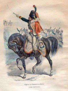 Ufficiale dei cacciatori della guardia imperiale francese