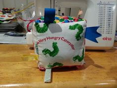 The Very Hungry Caterpillar Soft Toy Cube with Taggies - Crinkle Panel and Rattle Insert!