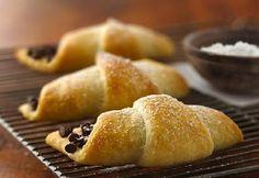 Croissant rellenos de chocolate...