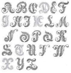 Embroidered alphabet 1862 by Design Decoration Craft, via Flickr