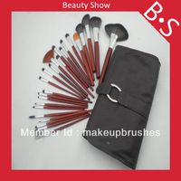 Profesional Maquillaje Diseñador 24pcs sistema de cepillo / kit , Belleza / Mejor Negro Brillante de cepillo cosméticos , Excelente Bolsa de cuero