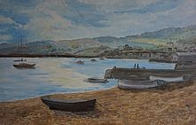 Teignmouth Beach painting Shaldon bridge art