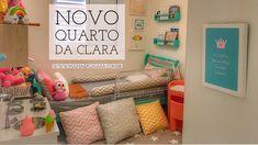 Quarto Infantil Moderninho, cor Menta - Novo Quarto da Clara, na nova ca...