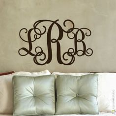 CLING | Entwined Monogram Initial Wall Decal | wall art, vinyl monogram initial wall decals