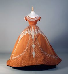 ball gown from 1864-66. by Charles Frederick Worth