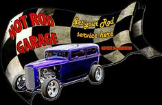 Hot Rod Garage Metal Sign 30 x 18 Inches 4 Post Car Lift, Garage Door Lights, Curb Ramp, Mustang Engine, Man Cave Metal, Personalized Metal Signs, Man Cave Signs, Vintage Metal Signs, Automotive Decor