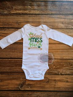 St Patricks Day Too Cute To Pinch Onesie Baby By
