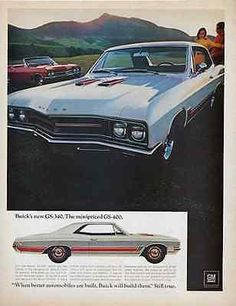 1967 Buick GS-340 Classic Sports Muscle Car Chrome Photo Illustration Auto AD