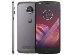 """Smartphone Motorola Moto Z2 Play 64GB Platinum - Dual Chip 4G Câm. 12MP + Selfie 5MP Tela 5.5"""" com as melhores condições você encontra no Magazine Jc79. Confira!"""