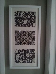 Cheap DIY wall art using scrap book paper