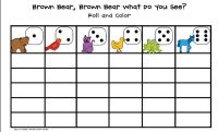 Dice game for Brown Bear, Brown Bear What Do You See?