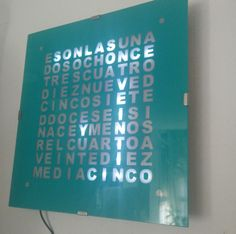 Spanish word clock with Arduino . Laser Arduino, Diy Arduino, Arduino Beginner, Arduino Wifi, Simple Arduino Projects, Iot Projects, Electronics Projects, Diy Electronics, Innovation