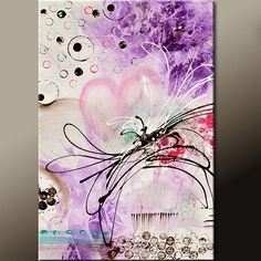 Writing Love Letters - Original Abstract Art Painting 36x24 Contemporary by wostudios, $129.00