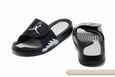 c348c21818b nike air jordan hydro 5 slide sandals black white sneakers p 3595 White  Jordans, Nike