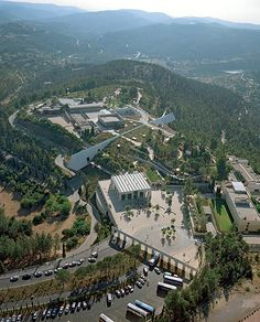 Aerial view of Yad Vashem - Yad Vashem, world center for Holocaust research, documentation, education and commemoration and dynamic place of intergenerational and international encounter.