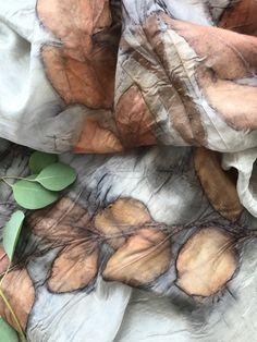 Eucalyptus eco print on silk