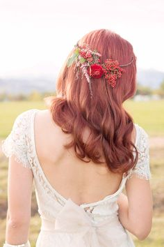 Craft Beer Wedding Ideas, flower crown, flower halo, lace and lilies