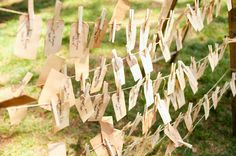 hanging escort card tags