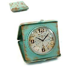 Teal Foldable Table Clock