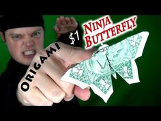 Origami $1 Ninja Butterfly - YouTube