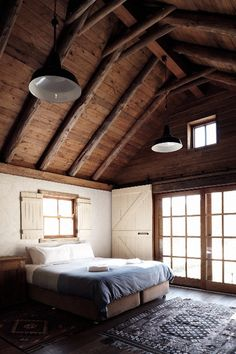 Rustic bedroom ceiling