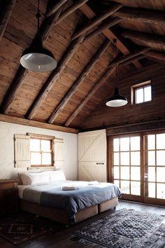Rustic bedroom ceiling